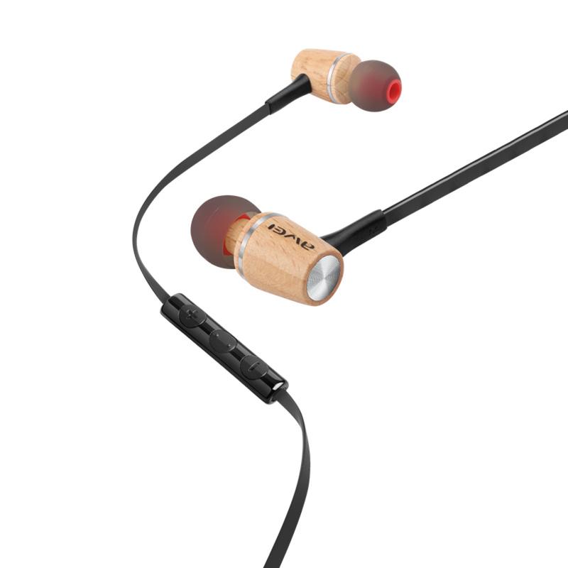 ενσύρματα ακουστικά awei ES-80ty γκρι