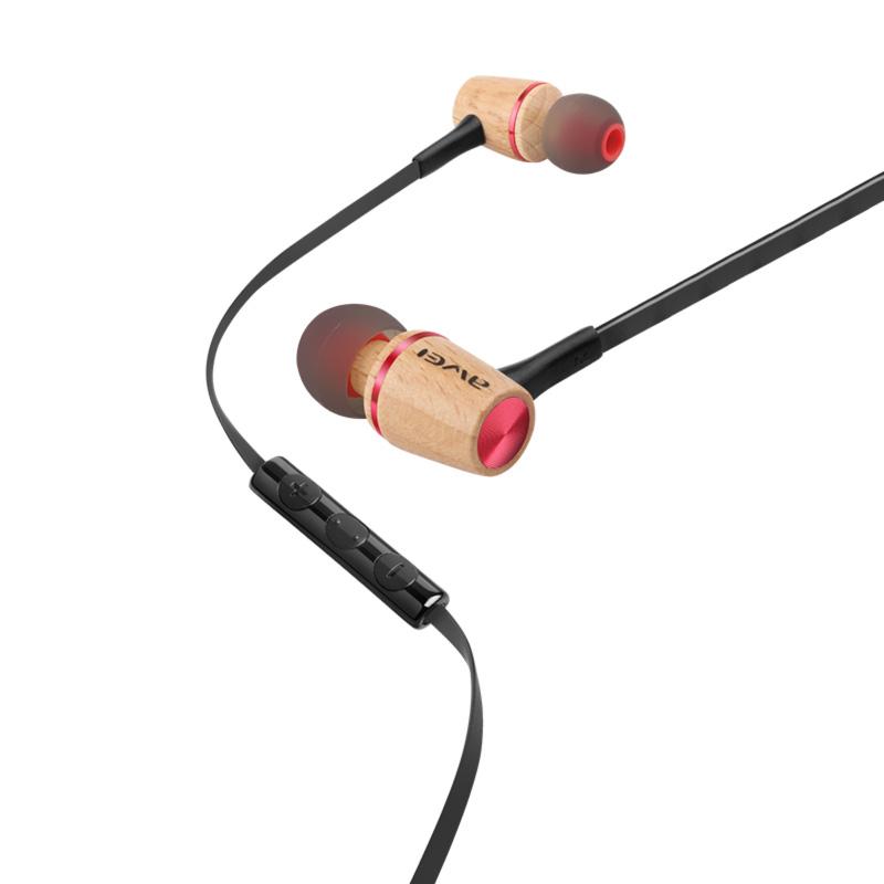 ενσύρματα ακουστικά awei ES-80ty κόκκινο