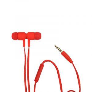 karler bass 201 ενσύρματα ακουστικά κοκκινο