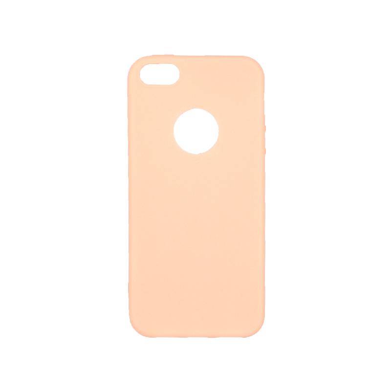 θήκη iphone 5 σιλικόνη με τρύπα μπεζ