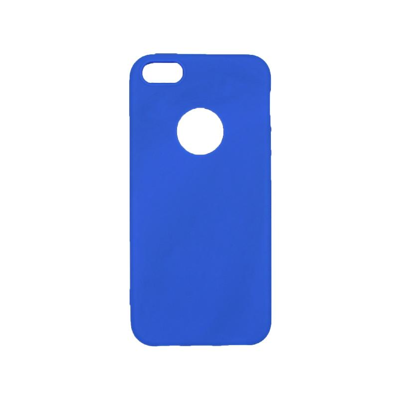 θήκη iphone 5 σιλικόνη με τρύπα μπλε ρουά