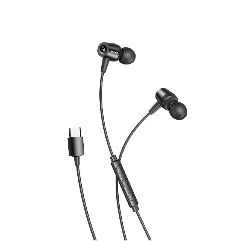 ενσύρματα ακουστικά awei TC1 μαύρα