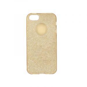 θήκη iphone 5 σιλικόνη glitter χρυσό
