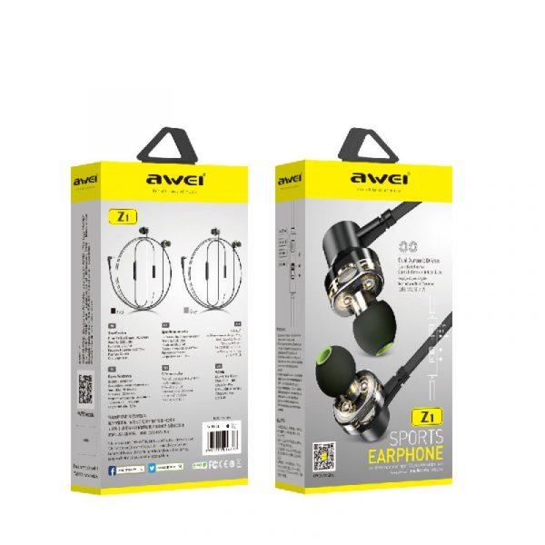 ενσύρματα ακουστικά awei Z1 μαύρα συσκευασια