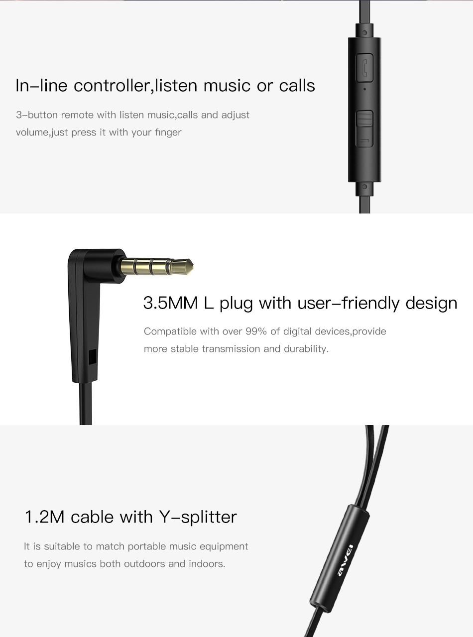 ενσύρματα ακουστικά awei Z1 μαύρα διαφημιστικό