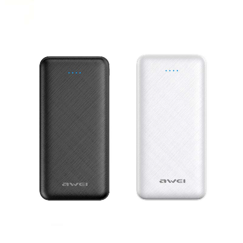 Awei Power Bank P47K 2000mAh Μαύρο Άσπρο