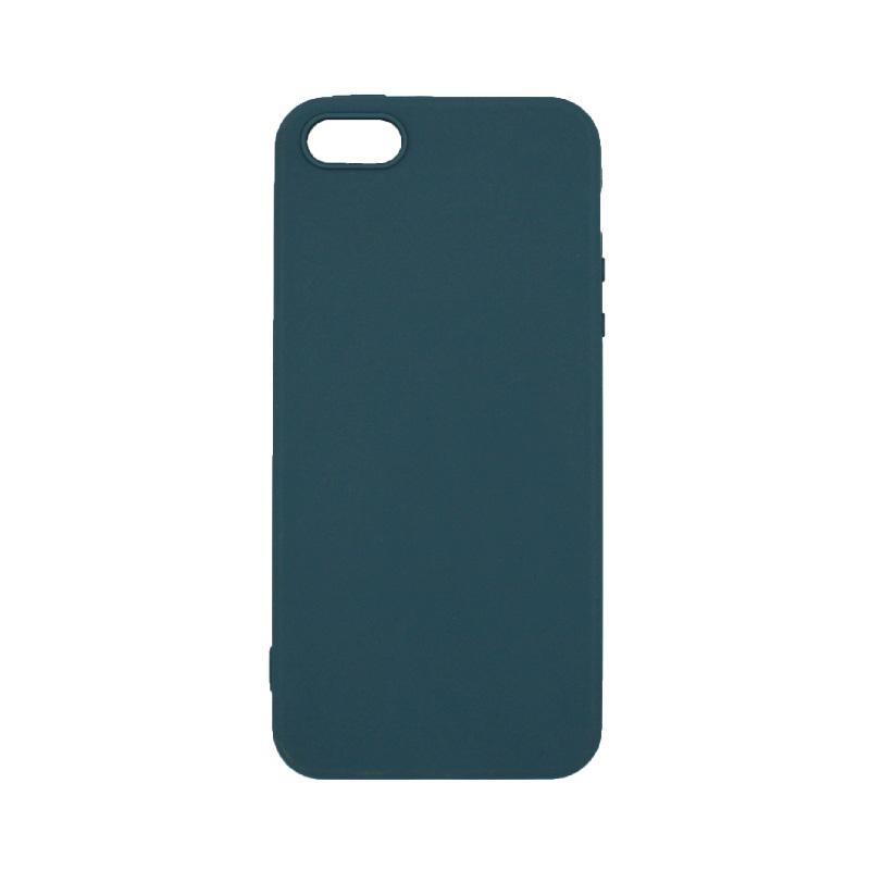θήκη iphone 5 σιλικόνη γκρι-μπλε