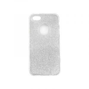 θήκη iphone 5 σιλικόνη glitter ασημί