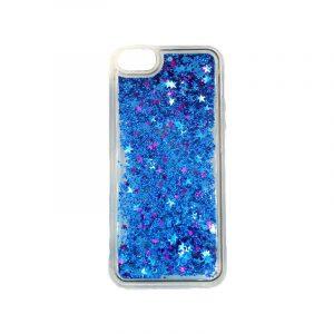 θήκη iphone 5 σιλικόνη glitter και αστεράκια μπλε 3