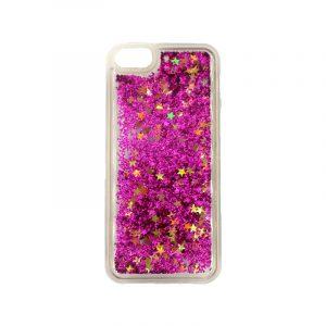 θήκη iphone 5 σιλικόνη glitter και αστεράκια φούξια 1