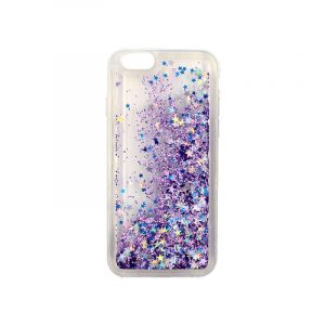 θήκη iphone 6 σιλικόνη glitter και αστεράκια μοβ 1