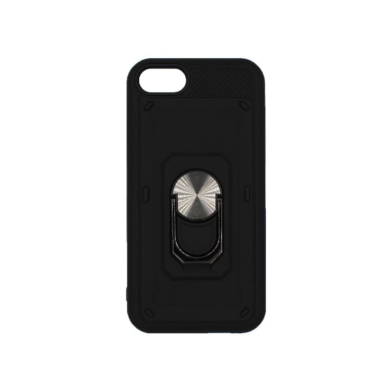 θήκη iphone 6 σιλικόνη popsocket μαύρο 1