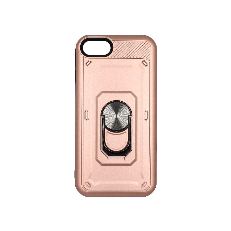 θήκη iphone 6 σιλικόνη popsocket rose gold 1