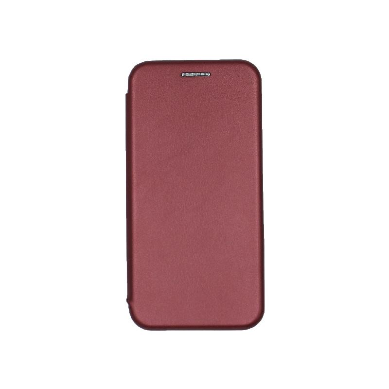 θήκη iphone 5 πορτοφόλι μπορντό 1