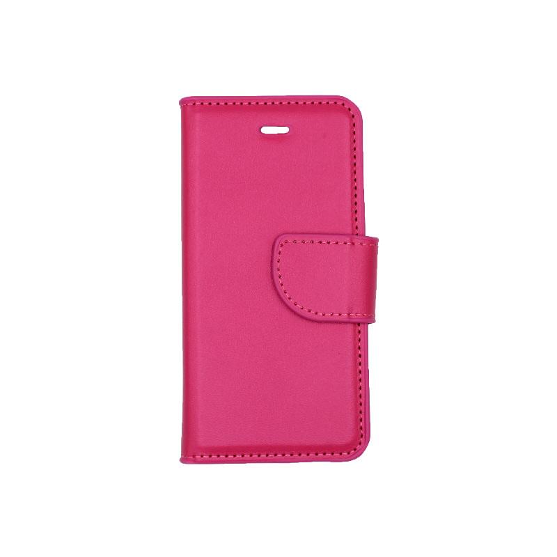 θήκη iphone 5 πορτοφόλι με λουράκι φούξια 1