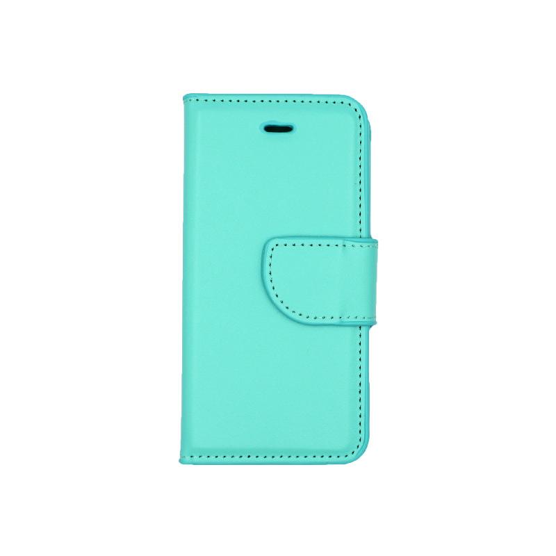 θήκη iphone 5 πορτοφόλι με λουράκι τιρκουάζ 4