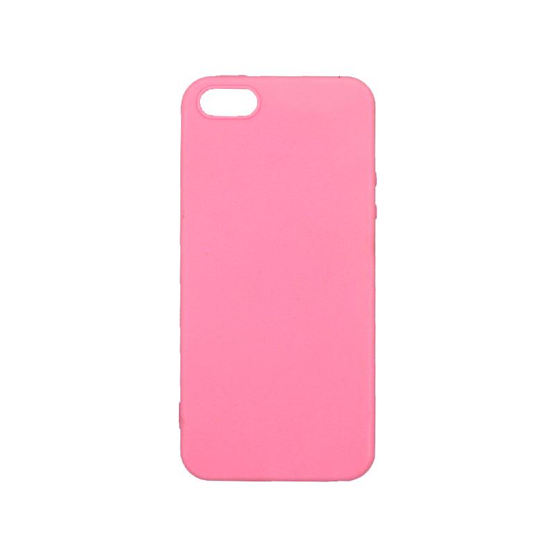 θήκη iphone 5 σιλικόνη ροζ