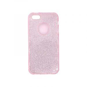 θήκη iphone 5 σιλικόνη glitter ροζ