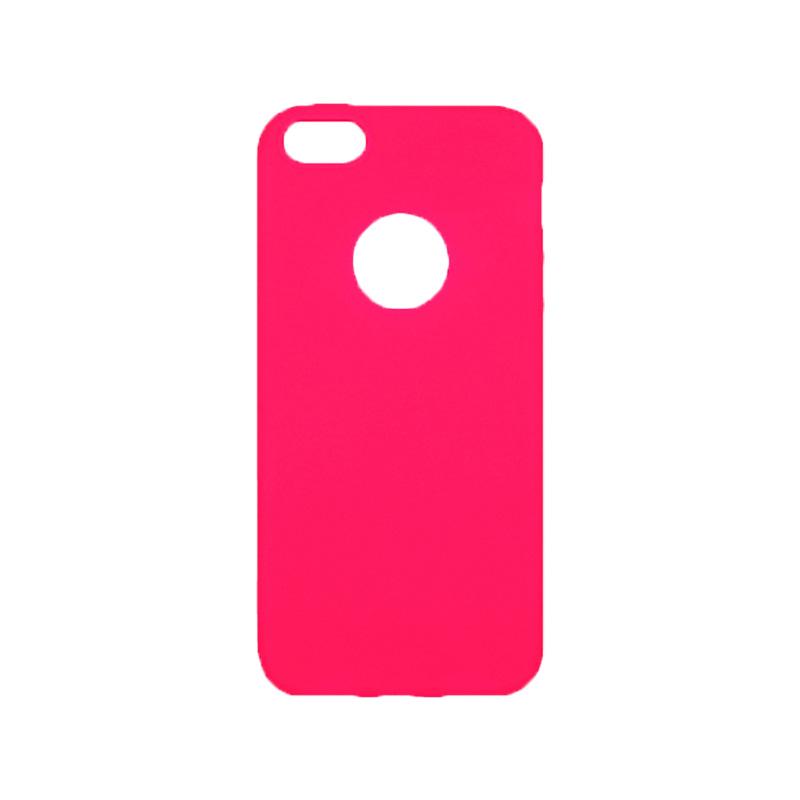 θήκη iphone 5 σιλικόνη με τρύπα φούξια