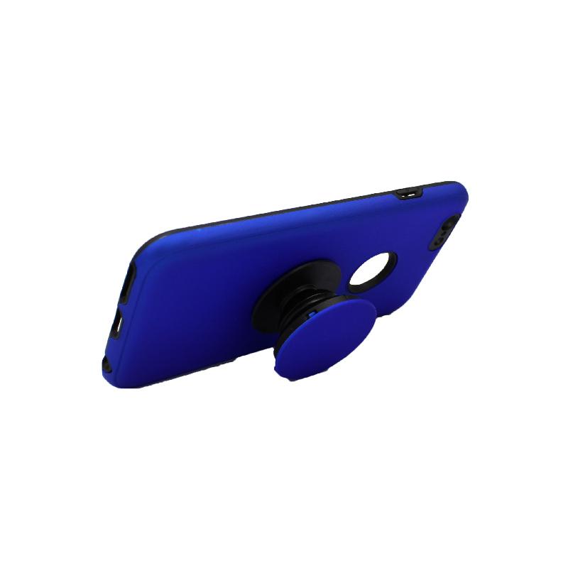 θήκη iphone 6 σιλικόνη popsocket hole μπλε 3
