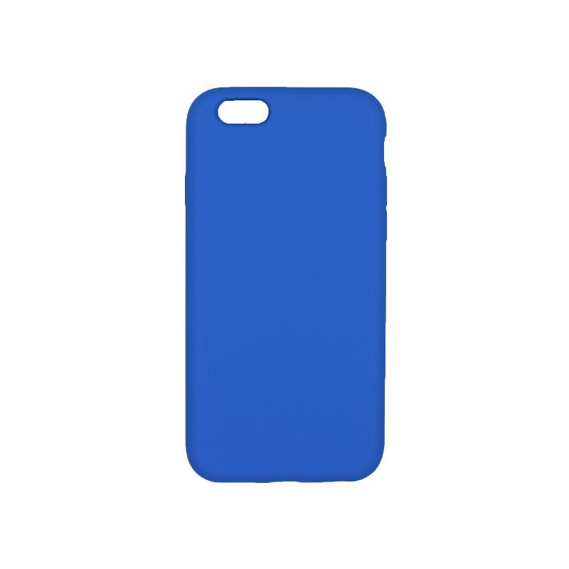θήκη iPhone 6 soft touch σιλικόνη μπλε πίσω