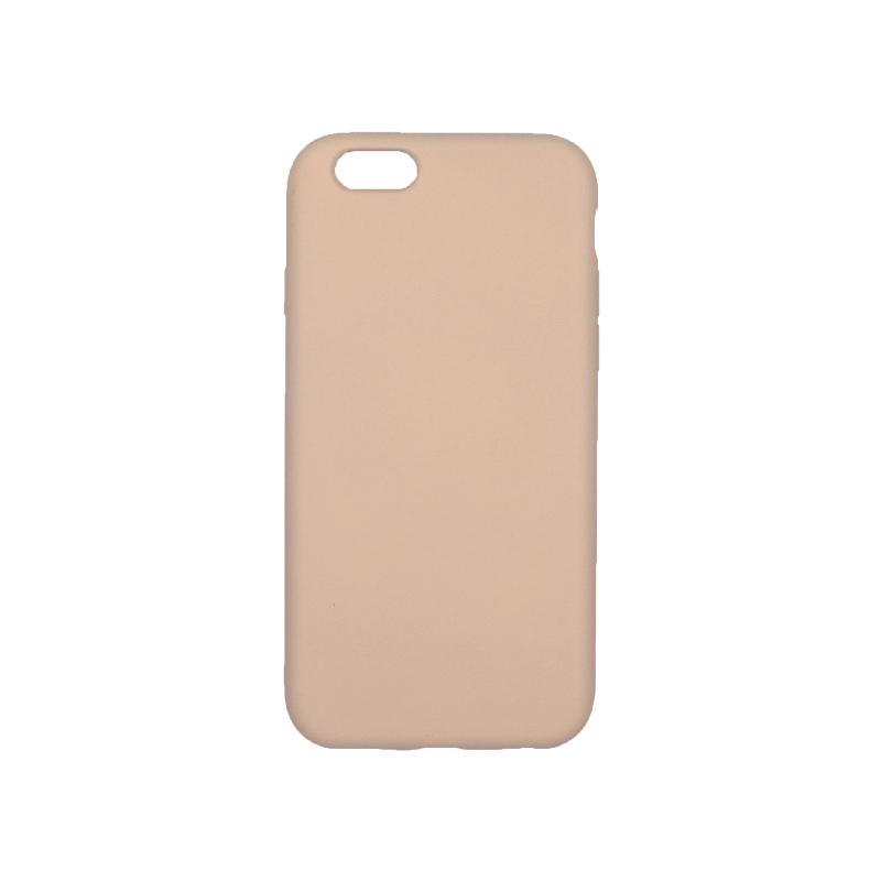 θήκη iPhone 6 soft touch σιλικόνη μπεζ πίσω