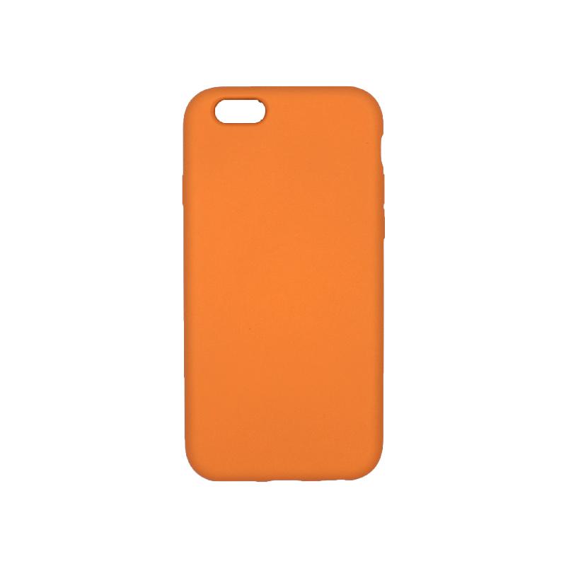 θήκη iPhone 6 soft touch σιλικόνη πορτοκαλί πίσω