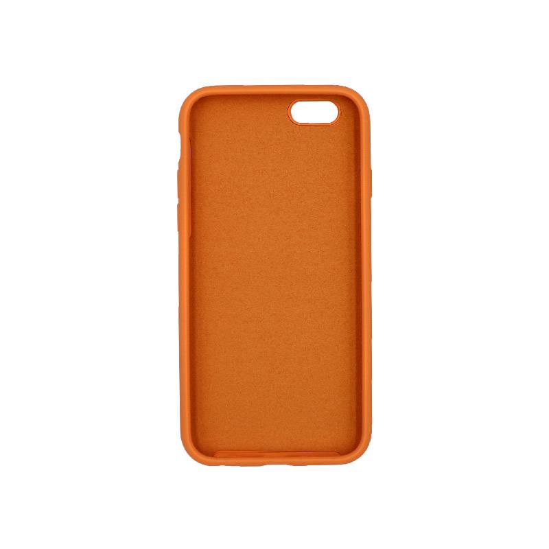 θήκη iPhone 6 soft touch σιλικόνη πορτοκαλί μπροστά