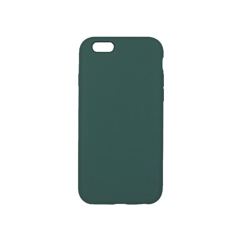 θήκη iPhone 6 soft touch σιλικόνη πράσινο πίσω