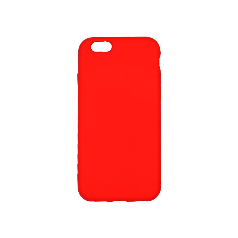 θήκη iPhone 6 soft touch σιλικόνη κόκκινο πίσω