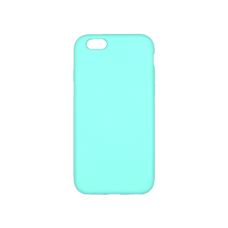 θήκη iPhone 6 soft touch σιλικόνη τιρκουάζ πίσω