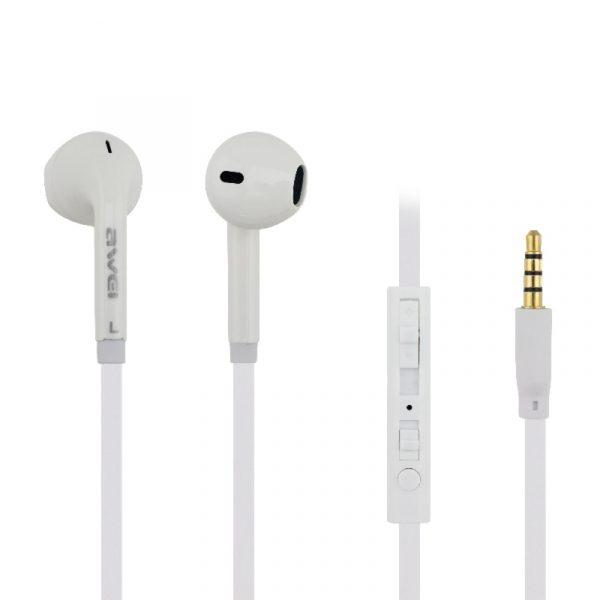 ενσύρματα ακουστικά awei ES-15Hi άσπρα