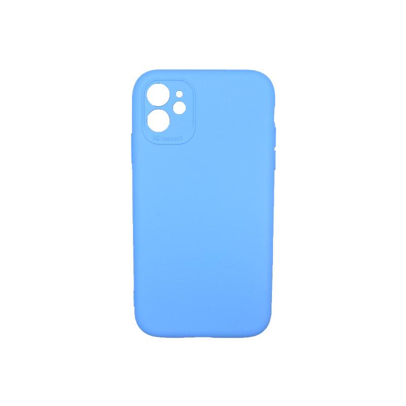 Θήκη iPhone 11 Silky and Soft Touch Silicone γαλάζιο 1