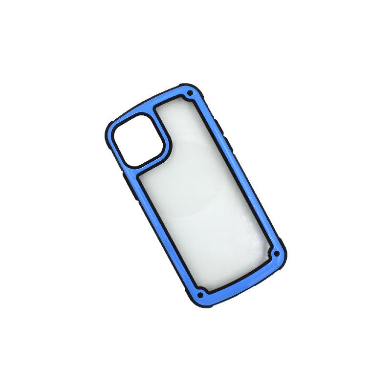 Θήκη iPhone 11 Pro Διάφανη Σιλικόνη με Μπλε Πλαίσιοο 2