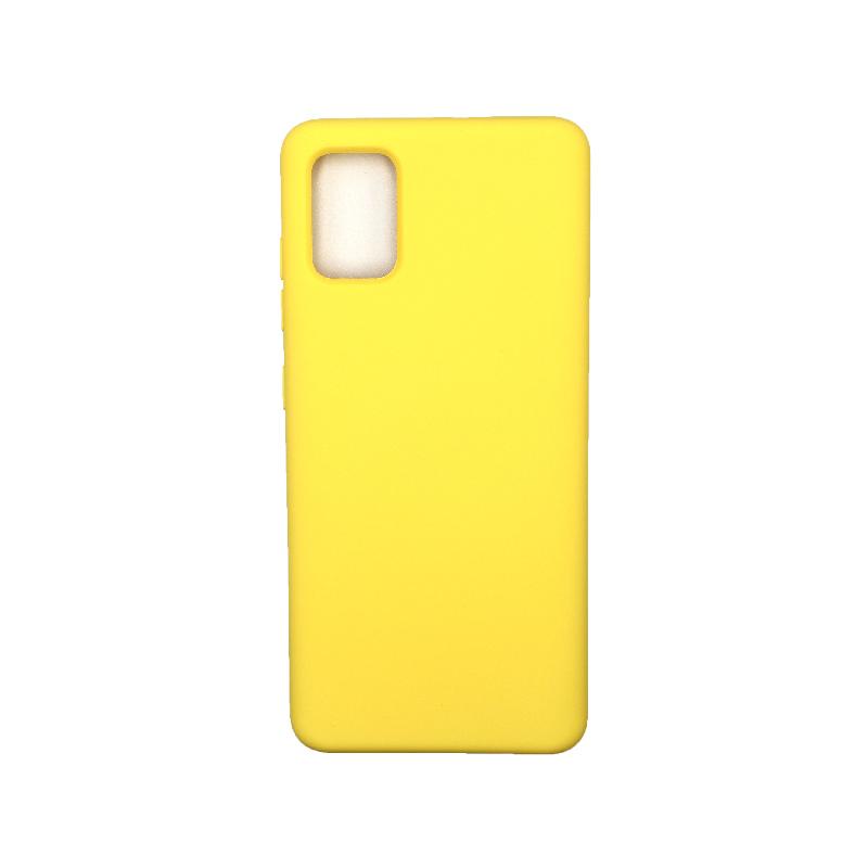Θήκη Samsung Galaxy A51 Silky and Soft Touch Silicone Κίτρινο 1