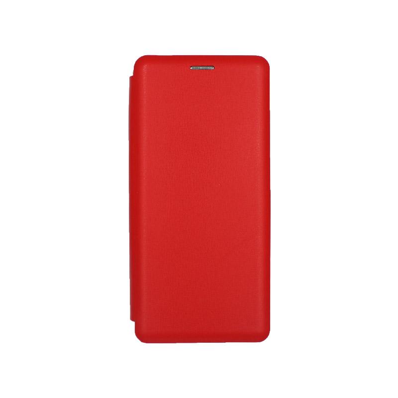 Θήκη Samsung Galaxy A70 / A70S Πορτοφόλι με Μαγνητικό Κλείσιμο κόκκινο 1