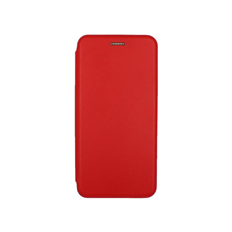 Θήκη samsung Α71 μαγνητικό πορτοφόλι κόκκινη 1