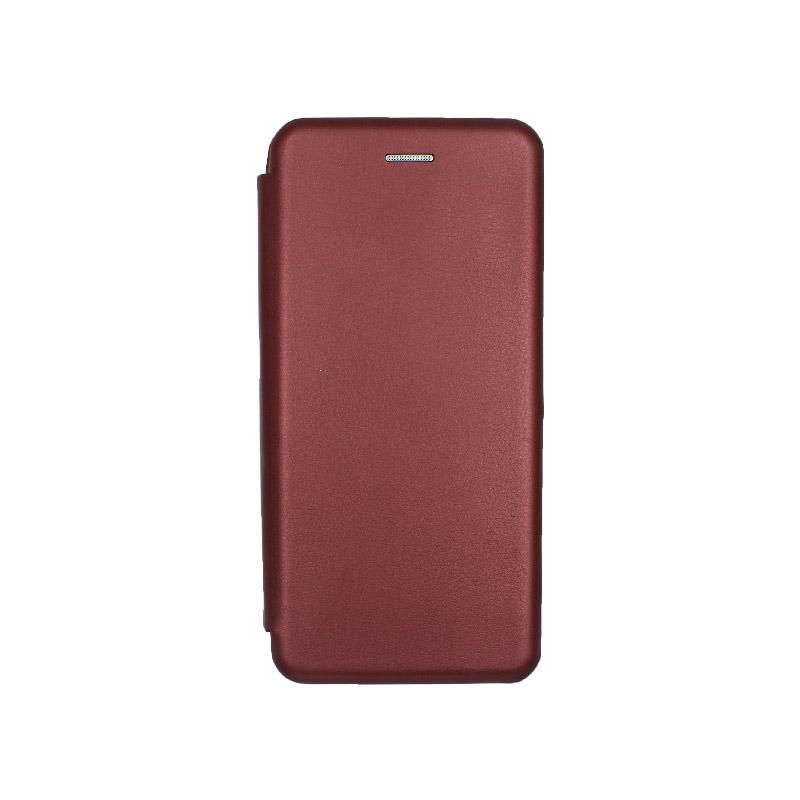 Θήκη Samsung Galaxy A70 / A70S Πορτοφόλι με Μαγνητικό Κλείσιμο μπορντό 1