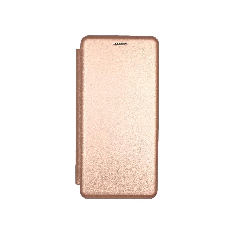 Θήκη Samsung A51 Πορτοφόλι Με Μαγνητικό Κλείσιμο ροζ χρυσό 1