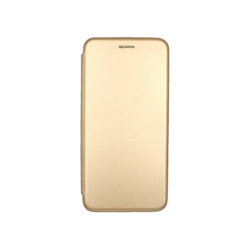 Θήκη samsung Α71 μαγνητικό πορτοφόλι χρυσό 1