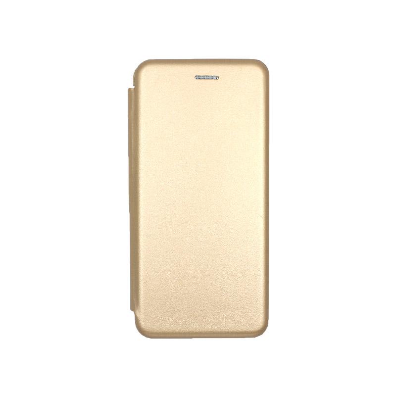 Θήκη Samsung Galaxy A70 / A70S Πορτοφόλι με Μαγνητικό Κλείσιμο χρυσό 1