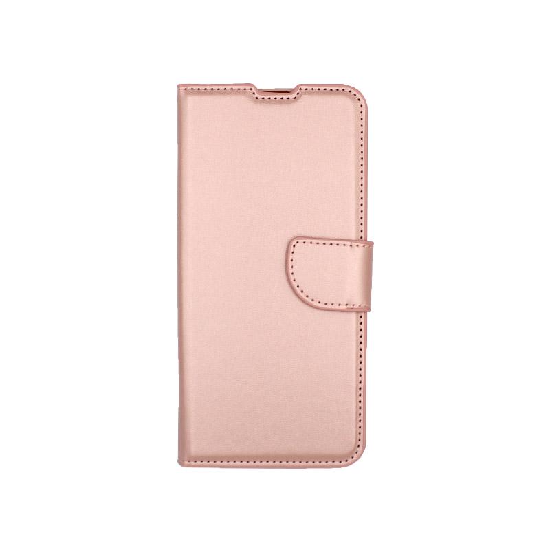 θήκη samsung A41 wallet ροζ χρυσό 1