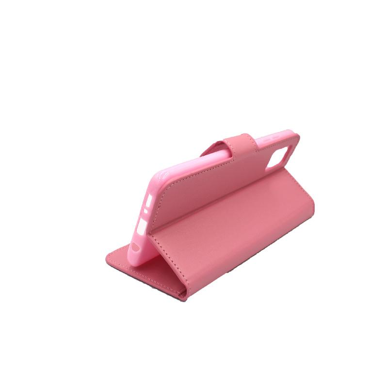 θήκη samsung A41 wallet ροζ 4
