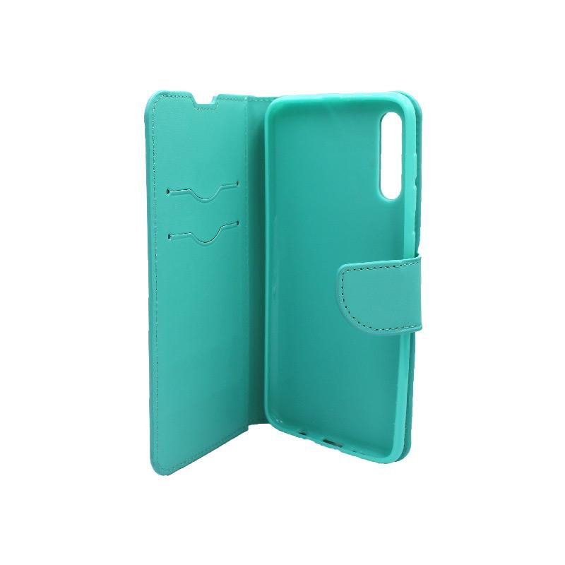 Θήκη Samsung A50,A30s και Α50s wallet τιρκουάζ 3