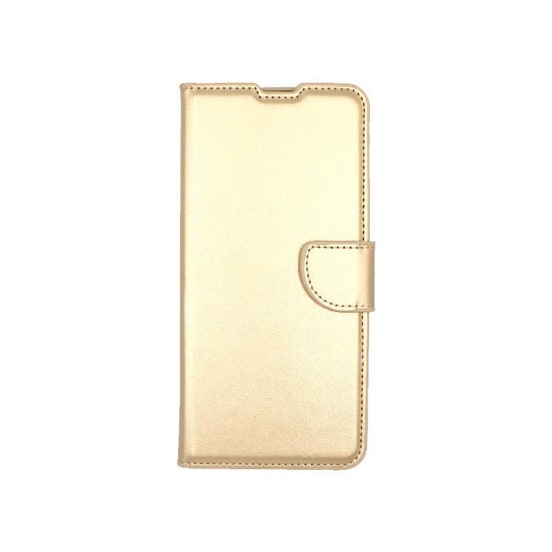 Θήκη samsung A71 Wallet χρυσό 1