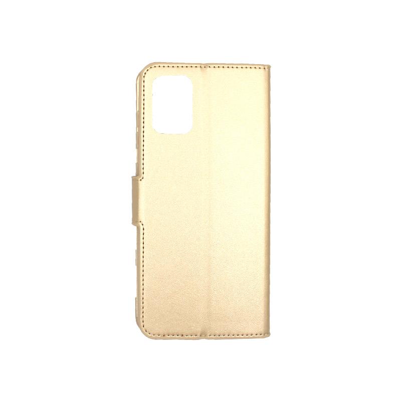 Θήκη samsung A71 Wallet χρυσό 2