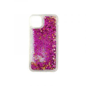 θήκη iphone 11 pro max σιλικόνη glitter και αστεράκια φούξια 2
