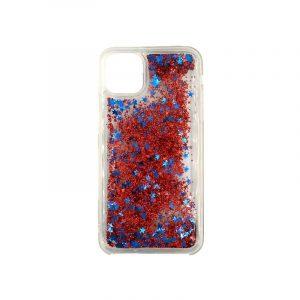 θήκη iphone 11 / 11 pro σιλικόνη glitter και αστεράκια κόκκινο 1