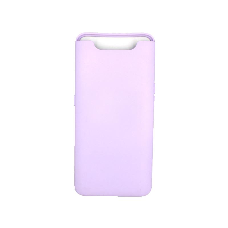 Θήκη Samsung Galaxy A80 / A90 Silky and Soft Touch Silicone μώβ 1