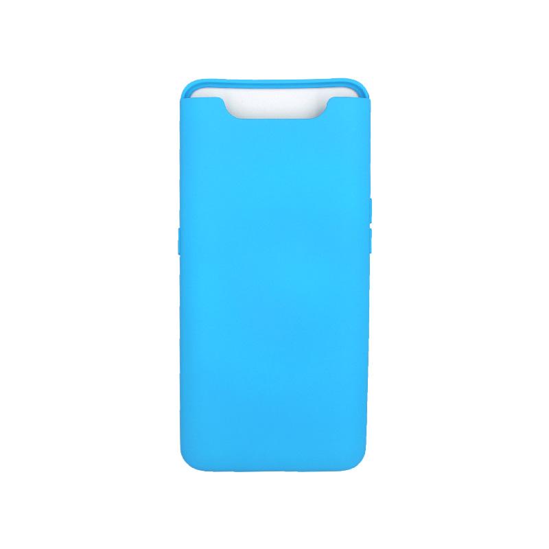 Θήκη Samsung Galaxy A80 / A90 Silky and Soft Touch Silicone γαλάζιο 1